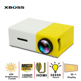 XBOSS YG300 LED Mini Projector 320x240 Pixels Supports 1080P YG-300 HDMI USB Audio Portable Projector Home Media Video Player