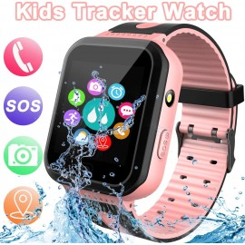 SOS Phone & Remote APP GPS Tracker Smart Watch for Kids, Activity Tracker with SOS Calls Alarm Clock Flashlight for Girls Boys 4-12 Years Old