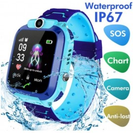 LDB Direct Kids Smartwatch Waterproof LBS/GPS Tracker with Phone SOS Camera Alarm Clock Screen Games for 3-12 Year Old Boys Girls Great Gift